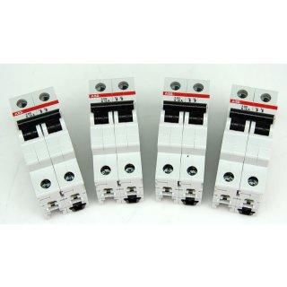 4 Stück ABB S202-K10 2polig Leitungsschutzschalter Sicherungsautomat