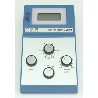 Schott pH-Meter CG818 pH Meter CG 818 digital mit mV-Bereich