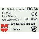 Würth FI-Schutzschalter FIG 68 975100520 4-polig 30mA #D7579