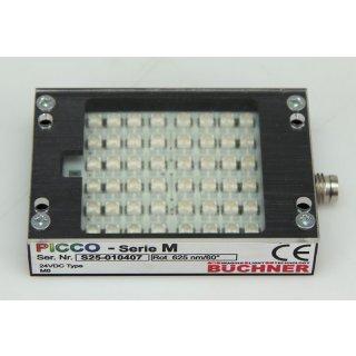 Büchner Picco Serie M LED Flächenbeleuchtung Auflicht rot S25-010407
