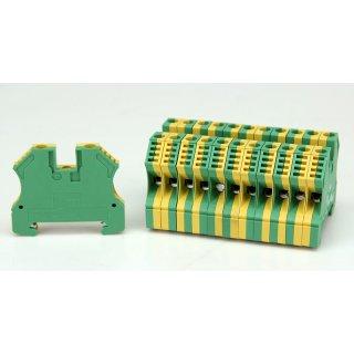 12 Stück Weidmüller WPE 6 Schutzleiter Reihenklemme Erdungsklemme