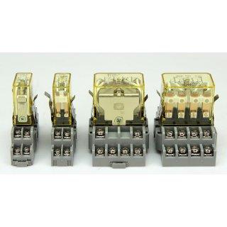 4 Stück idec Relais Sockel + Relais SH4B-05 SY2S-05 RH4B-U RY2S-U