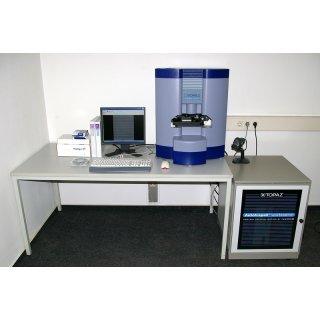 Topaz Protein Crystallization mit Leica DMIRE2 Mikroskop