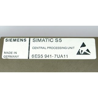 Siemens Simatic S5 6ES5-942-7UA11 Central Processing Unit