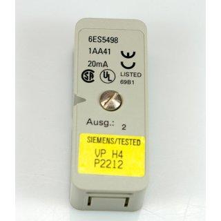 Siemens 6ES5498 1AA41 Messbereichsmodul 20mA