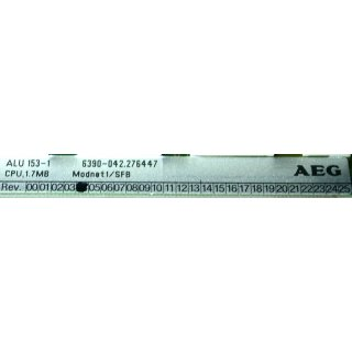 AEG Modicon ALU 153-1 276447 CPU 1.7MB Modnet1/SFB
