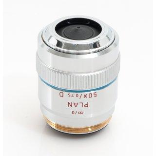 Leitz Leica Mikroskop Objektiv Plan 50x/0,75 Hellfeld Dunkelfeld 567021