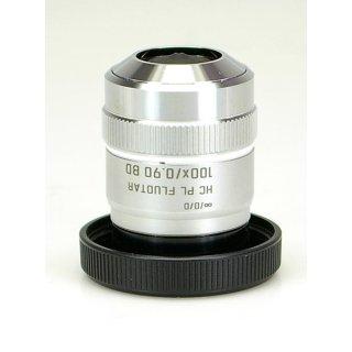 Leica Mikroskop Objektiv HC PL Fluotar 100x/0.90 BD 566505