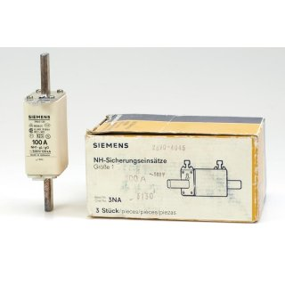 Siemens NH Sicherungseinsätze 3NA 3 130 HRC-Fuse (3 Stk.)
