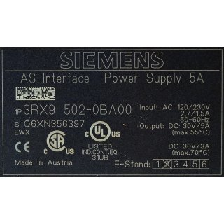 Siemens AS-i Power 3RX9 502-0BA00