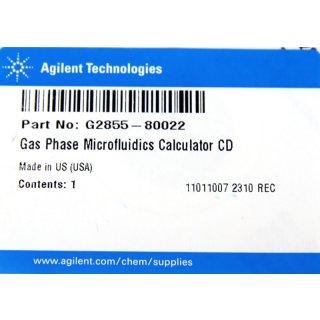 Agilent Gas Phase Microfluidics Calculator CD Nr. G2855-80022 HPLC  #D4951