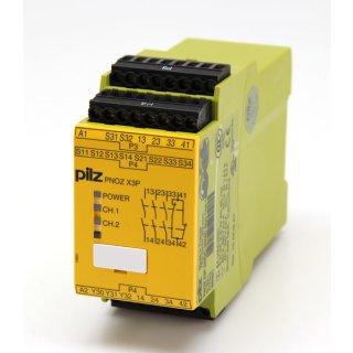 PILZ PNOZ X3P Nr. 777310  24VDC 24VAC 3n/0 1n/c 1so  #5095