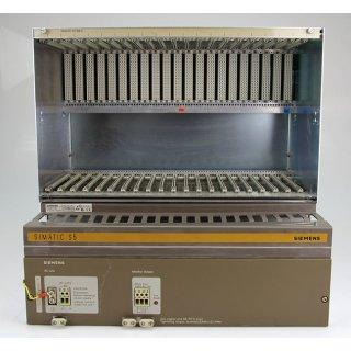 Siemens Rack 6ES5184-3UA11 + Stromversorgung 6ES5988-3LA11