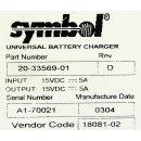Symbol Universal Ladestation 20-33569-01 + 4 Batterie Adapter