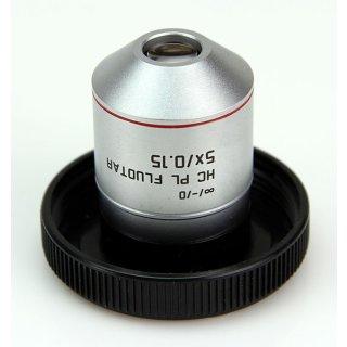 Leica Mikroskop Objektiv HC PL Fluotar 5X/0.15 506504