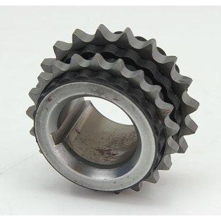 Rudolf Schwarz gummiertes Kettenrad Doppelkettenrad 19 und 21 Zähne #D5703