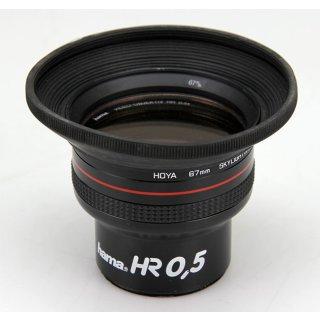 Hama Objektiv HR 0,5X mit HOYA Filter 67mm Skylight und Blende