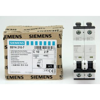 Siemens 5SY4 210-7 Leitungsschutzschalter Sicherung 5SY4210-7