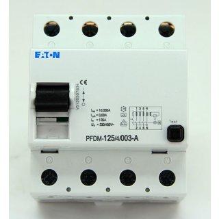 Eaton Moeller FI-125-4-003-A FI Schalter PFDM-125-4-003-A