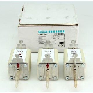 3 Stück Siemens 3NA7 236 Sicherungseinsatz 160A 500V