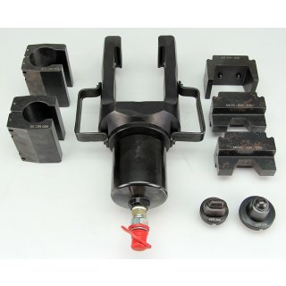 Hydraulischer Presskopf mit verschiedenen Presseinsätzen