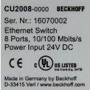 Beckhoff CU2008-0000 8 Port Ethernet Switch 10/100 Mbits/s